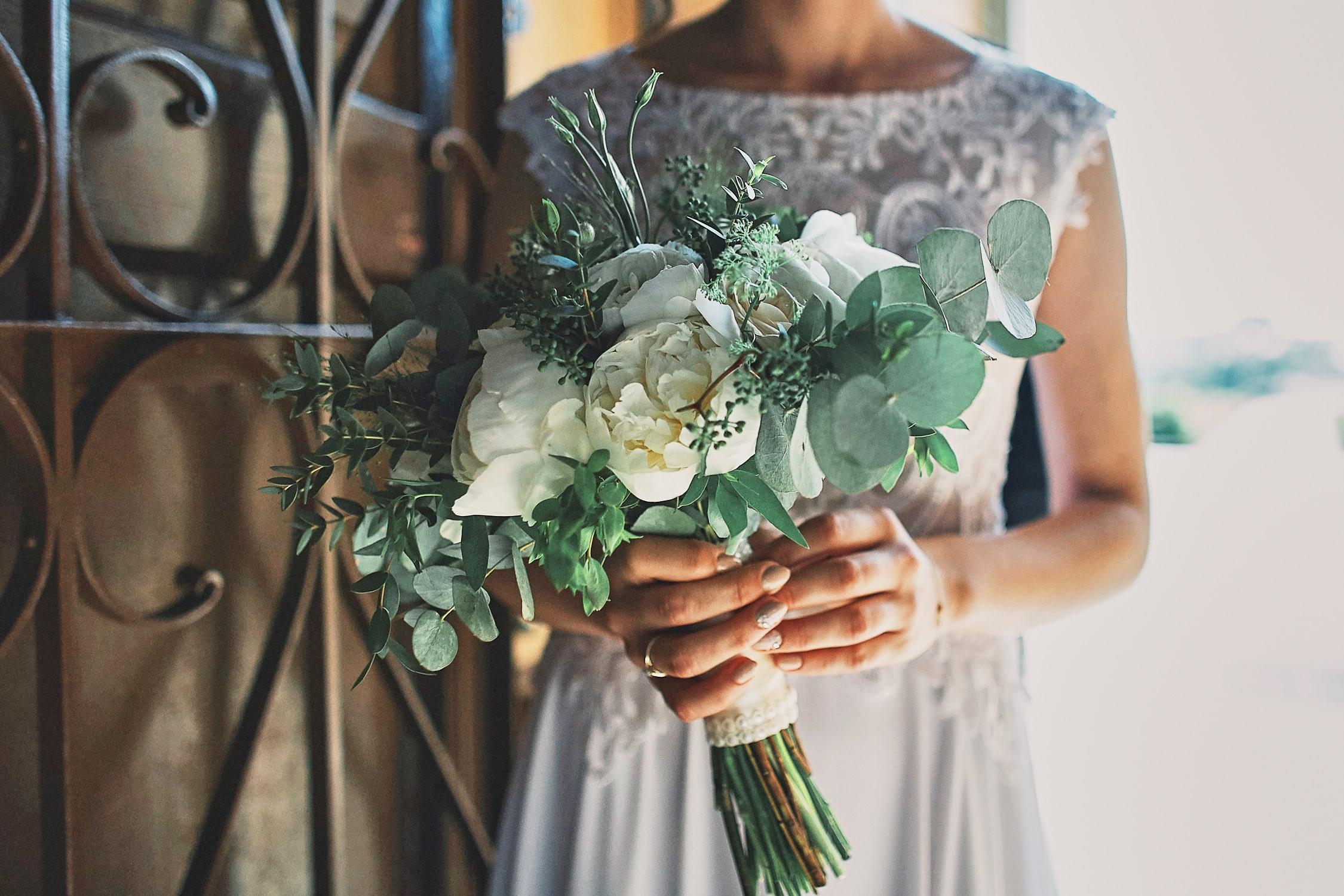 Zdjęcia ślubne bukiet kwiatów