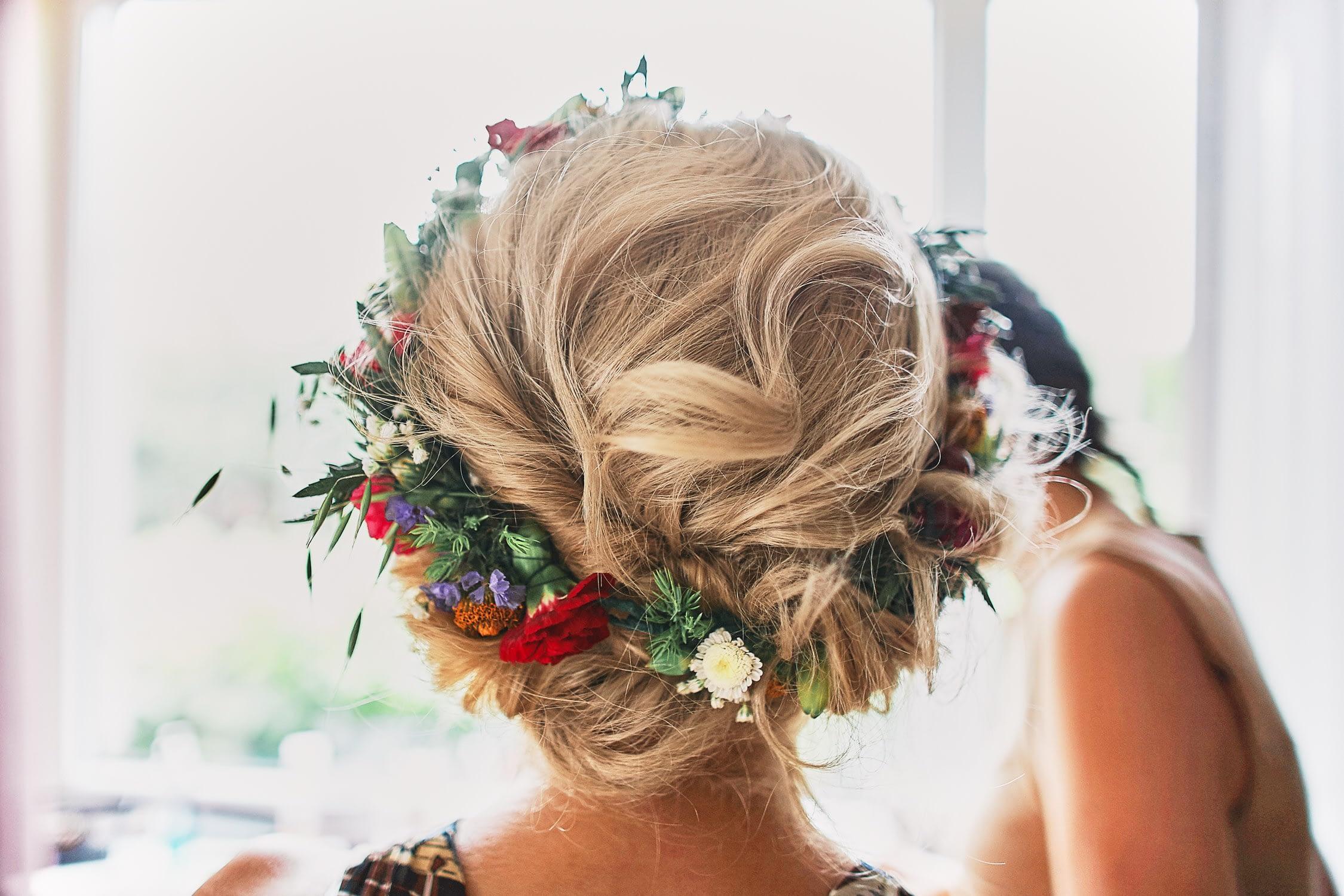 Zdjęcia ślubne fryzura wianek